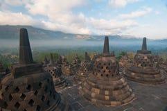 centralt indonesia java för borobudur tempel Royaltyfria Foton