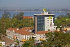 Centralt kontor av telekommunikationsföretag MCel Arkivbilder