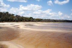 centralt torrt tillstånd för flodidalakepark royaltyfri fotografi