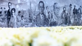 CentralWorld is holding many exhibitions and related activities. Bangkok, Thailand - October 5, 2017: To pay final tribute to HM King Bhumibol Adulyadej Stock Image