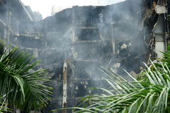 Centralworld shopping complex burned. Stock Image