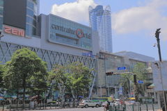 CentralWorld shopping mall Bangkok. Famous CentralWorld shopping mall in Siam Bangkok Royalty Free Stock Photo