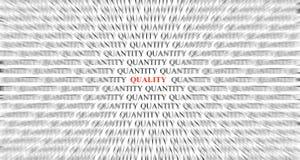 Centrar-se sobre a qualidade sobre a quantidade. foto de stock royalty free