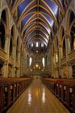 Centre Aisle to the Alter. The centre aisle leads to the alter at a church in Montreal, Quebec Stock Image
