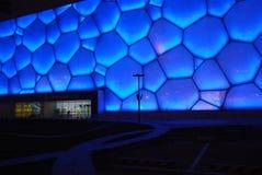 Centre aquatique de Jeux Olympiques dans Pékin, Chine Image libre de droits