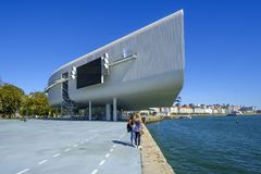 Centre of arts in Santander. Stock Image