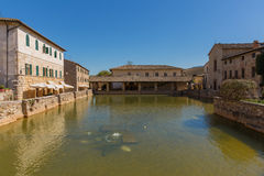 Centre of Bagno Vignone Royalty Free Stock Image