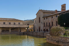 Centre of Bagno Vignone r Royalty Free Stock Image