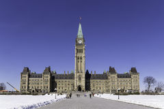 Centre block of the Canadian parliament Stock Image