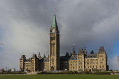 Centre Block of the Canadian Parliament buildings Royalty Free Stock Images