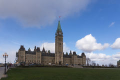 Centre Block of the Canadian Parliament buildings Stock Photos