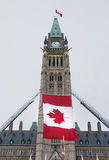 Centre Block Flag Stock Images