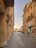 Centre of Brescia at dawn, Corso Magenta Royalty Free Stock Images