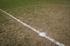 Centre circle local football pitch Royalty Free Stock Image