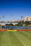 Centre Circle of Soccer Field Royalty Free Stock Image