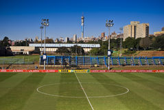 Centre Circle Of Soccer Pitch - Wider Angle Stock Image