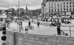 Centre of city Stockholm, Sweden royalty free stock photos
