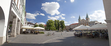 Centre of city Zilina, Slovakia stock photos