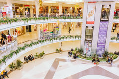 Centre commercial biélorusse Stolitsa à Minsk Images libres de droits