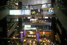 Centre commercial d'intérieur en Hong Kong Photographie stock