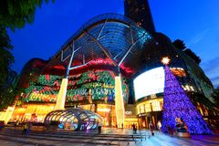 Centre commercial d'ION Orchard Singapour Photographie stock libre de droits