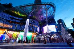 Centre commercial d'ION Orchard Singapour Photos stock