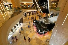 Centre commercial d'ION Orchard Singapour Photographie stock