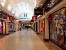 Centre commercial de centre de Harpur, Bedford, R-U Image stock