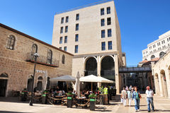Centre commercial de Mamilla à Jérusalem Israël Photos libres de droits
