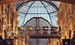 Centre commercial de Moscou de Russe photo stock