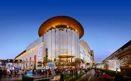 Centre commercial de parangon du Siam la nuit Photos stock