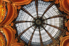 Centre commercial de Paris Galeries Lafayette Photos stock