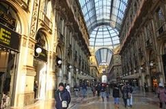 Centre commercial de Vittorio Emanuele de puits à Milan Image stock