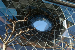 Centre commercial futuriste à Francfort Images libres de droits