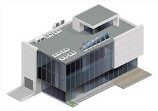 Centre commercial isométrique de bâtiment illustration stock