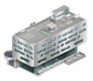 Centre commercial isométrique de bâtiment illustration libre de droits