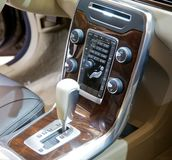 Centre console of luxury vehicle Stock Photography