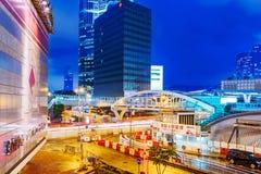 Centre d'Admirtalty et secteur financier de Hong Kong Photographie stock