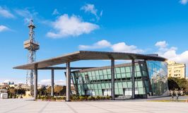 Centre d'affaires dans le boulevard dans la ville de Bakou Photo libre de droits