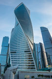 Centre d'affaires de ville de Moscou de scrapper de ciel image libre de droits