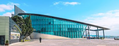 Centre d'affaires sur le boulevard Ville Azerbaïdjan de Bakou Images libres de droits