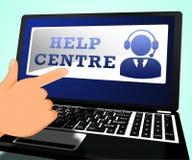 Centre d'aide montrant l'illustration du conseil 3d de FAQ illustration de vecteur