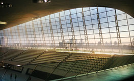 Centre d'Aqua de village olympique de Londres s Image stock
