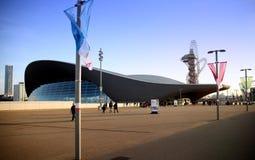 Centre d'Aqua du village olympique de Londres Photos libres de droits