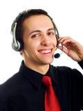 Centre d'attention téléphonique Photo stock