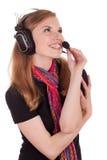 Centre d'attention téléphonique de personnel à communiquer avec le client photos stock
