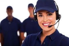 Centre d'attention téléphonique technique Images stock