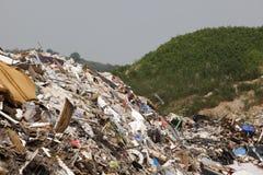 Centre d'enfouissement des déchets Image libre de droits