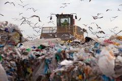 Centre d'enfouissement des déchets photo libre de droits