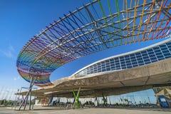Centre d'exposition, de congrès et de foires commerciales à Malaga, Espagne Photos stock